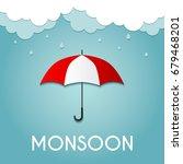 rainy day  monsoon offer  ... | Shutterstock .eps vector #679468201
