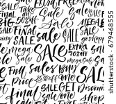 seamless pattern of sales... | Shutterstock .eps vector #679468555