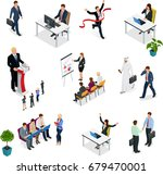 isometric business negotiations.... | Shutterstock .eps vector #679470001