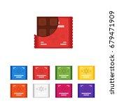 vector set of flat chocolate... | Shutterstock .eps vector #679471909
