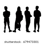 silhouettes people from the... | Shutterstock .eps vector #679473301