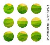 vegan food green field with... | Shutterstock .eps vector #679473475