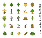 tree types color icons set.... | Shutterstock .eps vector #679473709