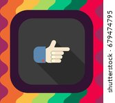 pointing hand flat icon with... | Shutterstock .eps vector #679474795