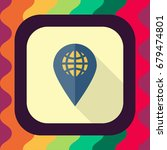 location pin flat icon with... | Shutterstock .eps vector #679474801