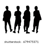 silhouettes people from the... | Shutterstock .eps vector #679475371