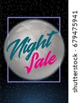 night sale dark banner. sale... | Shutterstock .eps vector #679475941
