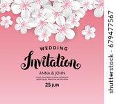 white flowers invitation.... | Shutterstock .eps vector #679477567