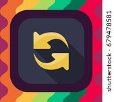 refresh arrow flat icon with...