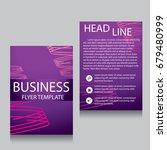 vector brochure flyer design... | Shutterstock .eps vector #679480999