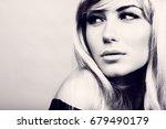 closeup portrait of a gorgeous...   Shutterstock . vector #679490179