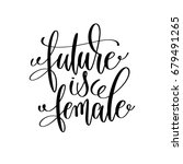future is female black and... | Shutterstock .eps vector #679491265