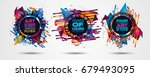 futuristic frame art design... | Shutterstock . vector #679493095