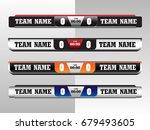 scoreboard digital screen... | Shutterstock .eps vector #679493605