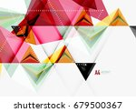 triangular low poly a4 size... | Shutterstock . vector #679500367