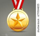 gold medals.vector | Shutterstock .eps vector #679504855