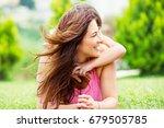 happy mother with daughter...   Shutterstock . vector #679505785