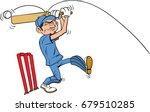 cartoon cricketer hit on the... | Shutterstock .eps vector #679510285