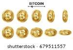bitcoin 3d gold coins vector... | Shutterstock .eps vector #679511557