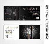 gift voucher cosmetics luxury... | Shutterstock .eps vector #679516135
