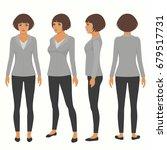 vector woman cartoon character  ... | Shutterstock .eps vector #679517731