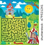maze 3 with knight theme  ... | Shutterstock .eps vector #679521241