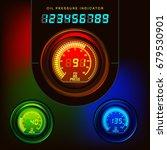 Oil Pressure Indicator. Digital....