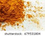 turmeric powder    Shutterstock . vector #679531804