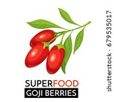 goji berries vector icon....   Shutterstock .eps vector #679535017