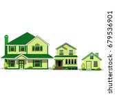 the houses are in a line. the...   Shutterstock .eps vector #679536901