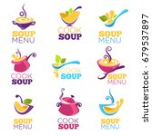 cook soup  vector collection of ... | Shutterstock .eps vector #679537897