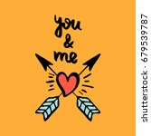 you and me. hand drawn... | Shutterstock .eps vector #679539787