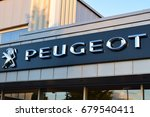 big sign of peugeot  ... | Shutterstock . vector #679540411