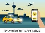 taxi order service  taxi ...   Shutterstock .eps vector #679542829