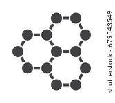 nanotechnology concept with... | Shutterstock .eps vector #679543549