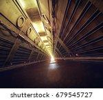Empty Concrete Subway Fallout...