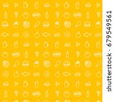 food line icons pattern  ... | Shutterstock .eps vector #679549561