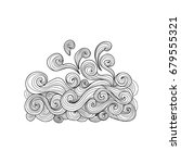 sea wave coloring book for... | Shutterstock .eps vector #679555321
