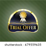 gold badge with ribbon icon... | Shutterstock .eps vector #679559635