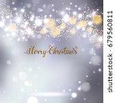 elegant christmas gray... | Shutterstock .eps vector #679560811