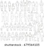 isolated  outlines of people ... | Shutterstock . vector #679564105