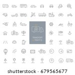 50 transportation  traffic and... | Shutterstock .eps vector #679565677