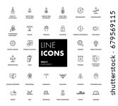 line icons set. investment pack.... | Shutterstock .eps vector #679569115