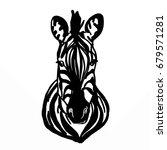 zebra head   | Shutterstock . vector #679571281
