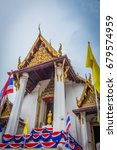 Small photo of Temple in Ayuttaya,Thailand. This name is Wat Nah Phramen.