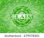 claim green emblem with mosaic... | Shutterstock .eps vector #679578301