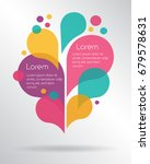 abstract colorful speech... | Shutterstock .eps vector #679578631