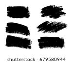 vector black paint  ink brush... | Shutterstock .eps vector #679580944