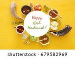 rosh hashanah  jewish new year... | Shutterstock . vector #679582969