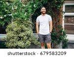 hipster handsome male model... | Shutterstock . vector #679583209